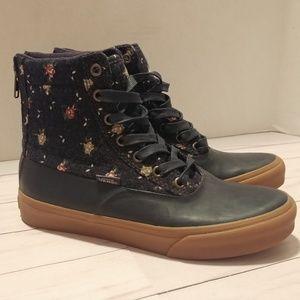 Women's 6.5 Blue Floral VANS shoes